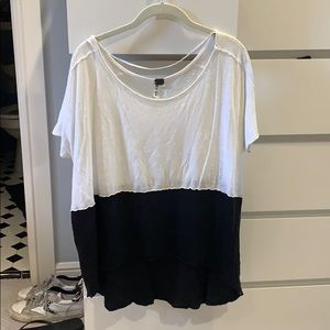 black and white free people top